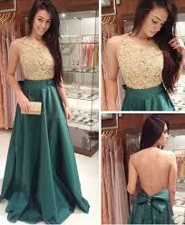 free shipping lace prom dress deep green graduation dress