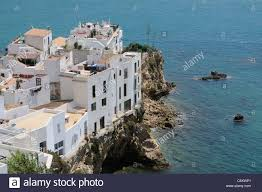 Spanish Mediterranean Homes Spanish Coastal Homes Built On The Cliffs At Eivissa Ibiza A Stock