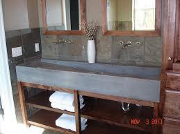 bathroom trough sink custom concrete trough sink contemporary bathroom sinks trough