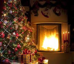 christmas tree fireplace backgrounds cheminee website