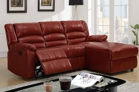 Top Grain Leather Sectional Sofa Living Room Tan Sectional With Chaise Large Sofa Lounge Red