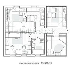 plan drawing planning of house drawing 3 bedroom with study floor plan house plan