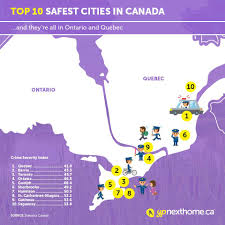 Map Of Canada Cities And Provinces by What Are The Safest Cities In Canada