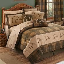 bedding for cabins lodge bedding sets wildlife bedspreads ducks unlimited plaid comforter set