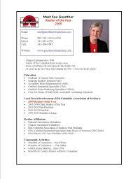Sample Realtor Resume by Real Estate Resumes Samples Sample Resumes