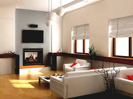 simple small living room design with white painted wall interior