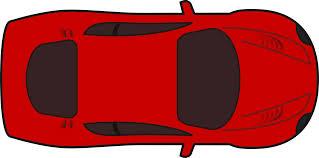 cartoon race car clipart red racing car top view