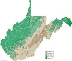 virginia on a map of the usa west virginia physical map and west virginia topographic map