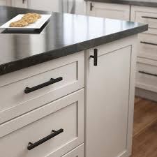 home depot kitchen cabinet handles and knobs liberty square bar 3 in 76 mm matte black elongated bar