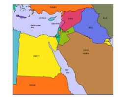 middle east map ppt israel and middle east regional powerpoint map countries names