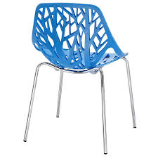 Molded Plastic Outdoor Chairs by Amazon Com Modway Stencil Stackable Dining Side Chair In Blue