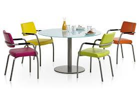 table de cuisine ronde en verre pied central table ronde pied central style shabby chic avec rallonges table