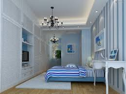 nice decorate modern mediterranean summer house bedroom interior