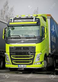 new volvo fh truck turku finland march 8 2015 volvo fh truck in a highly visible