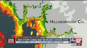 Storm Map Maps Show Tampa Bay U0027s Storm Surge Vulnerability Youtube