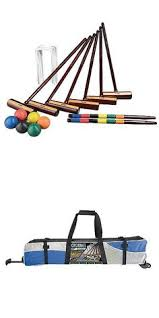 New Backyard Games by Croquet 117210 Deluxe Croquet Set Game Outdoor Kit Wood Mallets