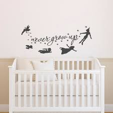peter pan wall decal quote never grow up quotes wall decals details peter pan wall decal quote