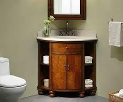 Inexpensive Bathroom Vanities by Carlton 37 Inch Corner Bathroom Vanity Cherry Veneer Finish