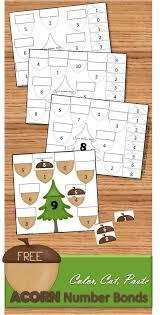 free acorn cut u0026 paste math worksheets