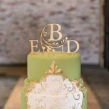 gold monogram cake topper modern fairy tale monogram acrylic cake topper metallic gold