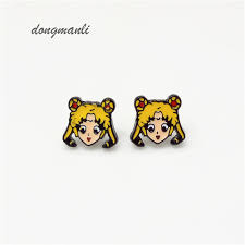 serenity earrings w5313 animation sailor moon earrings for women tsuking