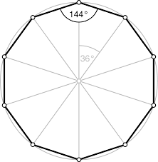 Interior Angle Sum Of A Decagon Decagon Wikipedia