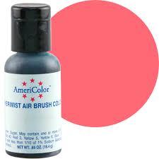 coral red americolor amerimist air brush food color acr ab43
