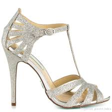 silver glitter wedding shoes stiletto open toe made to order women