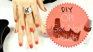 opi gel nail polish diy tutorial how to do gel nails youtube