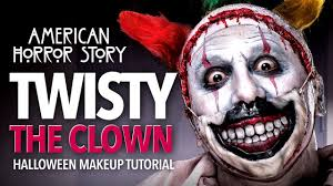twisty the clown halloween makeup tutorial ahs youtube