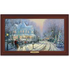 amazon com thomas kinkade authentic canvas print a holiday