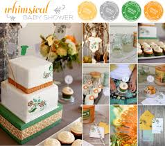 modern whimsical baby shower where the green grass grows designs