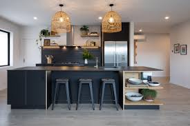 black kitchen cabinets nz matt black dekton selected for modern kitchen eboss