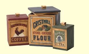 country canisters for kitchen decorative kitchen canisters of wood 3 designs and jars wooden