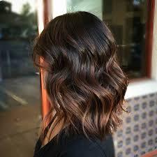 lob haircut dark wavy hair 21 cute lob haircuts for this summer wavy lob brown balayage