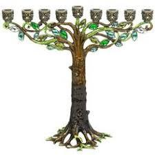 pewter menorah enameled and jeweled pewter menorah vines flowers bronze