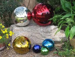 blown glass gazing balls these mexican glass garden globes