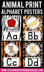 animal print alphabet posters i am always looking for decorations