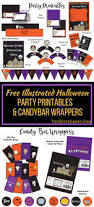 free halloween party printables and candy bar wrappers party