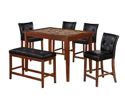 Marble And Wood Dining Table 5pc Faux Marble Dining Table Set