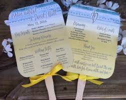 Fan Programs For Weddings Paddle Fan Sticks Etsy