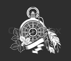 vector illustration of gold pocket watch stock vector colourbox