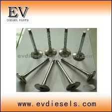 isuzu parts 3kr1 engine valves 3kr2 intake u0026 exhast valve guide
