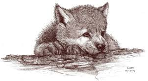 wonderful wolf with cubs design idea for and