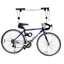 Bicycle Ceiling Hoist by Ceiling Mount Bike Storage Hanger Hoist Hanging Lift Rack Black