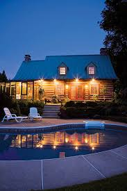 let there be light log home exterior lighting ideas the log