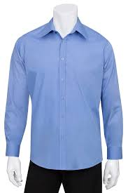 mens french blue essential dress shirt chef works