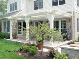 Attached Pergola Plans by Living A Beautiful Life White Cute Pergola Attached To House