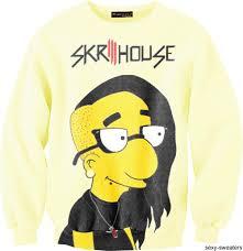 skrillex milhouse skrillhouse one awesome sweater
