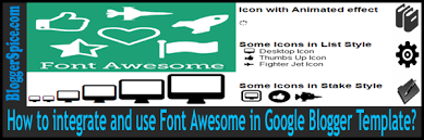 how to integrate and use font awesome in google blogger template
